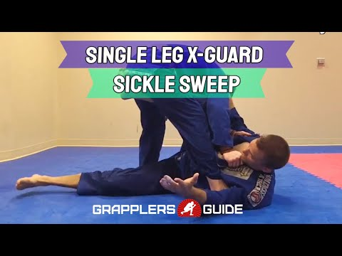BJJ Single Leg X-Guard Sickle Sweep - Grapplers Guide Expert - Jeff Rockwell