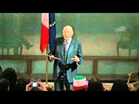 Giorgio Napolitano all'incontro con la collettività italiana e con gli studenti di italiano