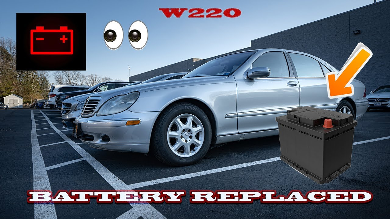 w221 mercedes battery location