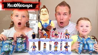 Opening Hello Neighbor Blind Bags! Toy Statues from Domez!!!