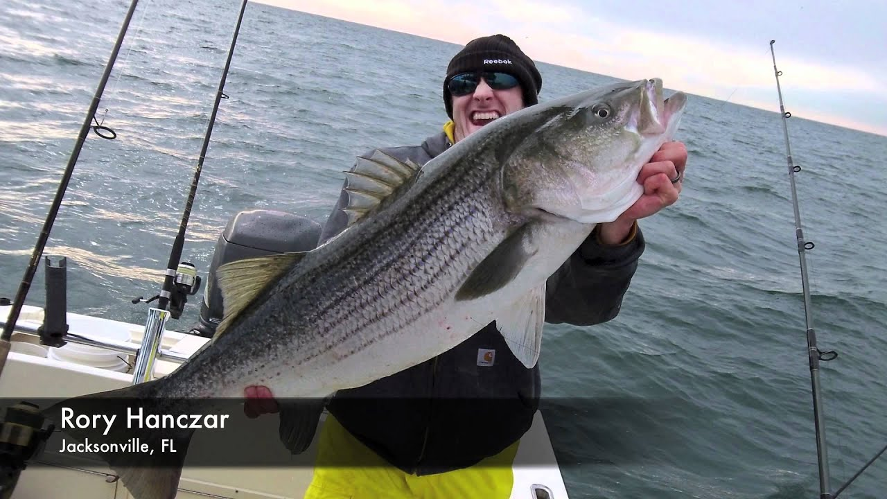 Striper Fishing, VA Chesapeake Bay Bridge Tunnel - YouTube