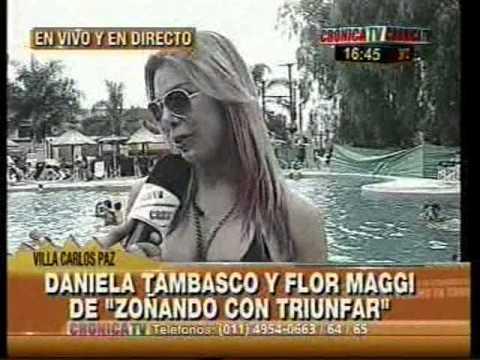 24 01 13 Flor Maggi y Daniela Tambasco en Crónica TV