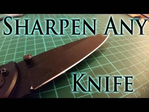 The Laziest Way to Sharpen Any Knife to Razor Sharp