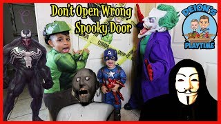 DON'T OPEN WRONG SPOOKY DOOR | DEION'S PLAYTIME