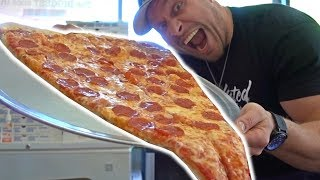 World's LARGEST Pizza Slice Challenge
