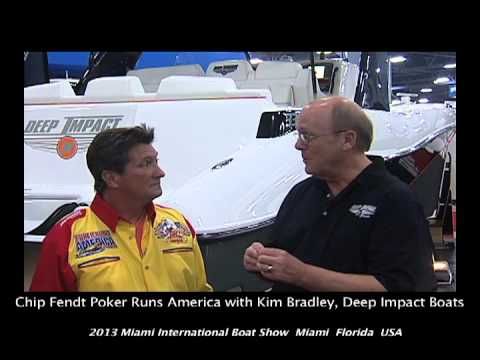 Poker Runs America - 2013 Miami International Boat Show - Deep Impact Boats Part 1