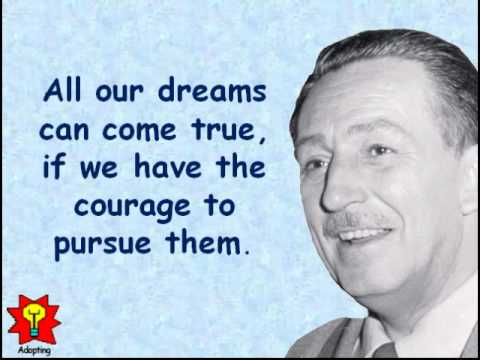 Creative Quotations from Walt Disney for Dec 5 Video