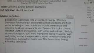 California Energy Efficient Standards GCE42.com General Contractors B Building Exam Top Words