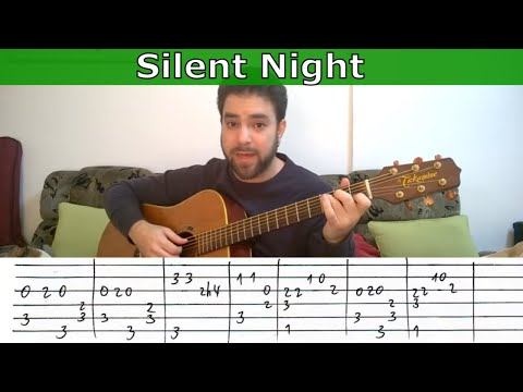 Fingerstyle Tutorial: Silent Night - Guitar Lesson W/ TAB