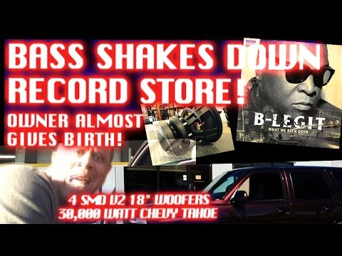 BASS SHAKES DOWN RECORD STORE! Owner