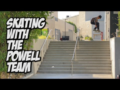 SKATEBOARDING WITH THE BROS Feat  THE POWELL TEAM !!! - NKA VIDS