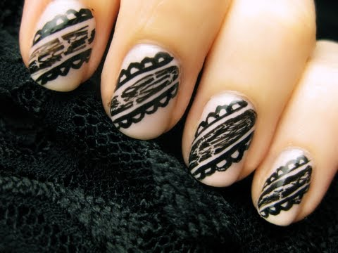 Easy Black Lace Nails Music Videos
