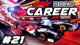 F1 2019 CAREER MODE Part 21: RACING AT THE FRONT FOR THE FIRST TIME!