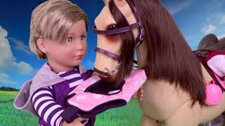 Pole horse 🏡trailer set with rafael boy doll toy🔫 review and play #1