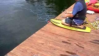 How NOT to kneeboard off dock