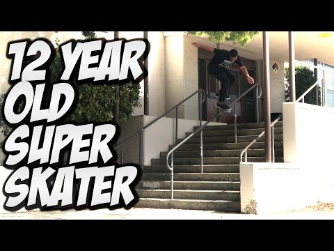 12 YEAR OLD SUPER SKATER !!! Feat. CORDANO RUSSELL - A DAY WITH NKA -