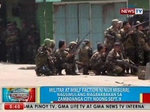 Bp: Militar At Mnlf, Nagsimulang Magbakbakan Sa Zamboanga City Noong Sept. 9 video