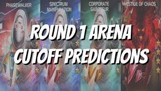 Ghost and Void Arena Cutoff Round 1 Predictions - Marvel Contest of Champions