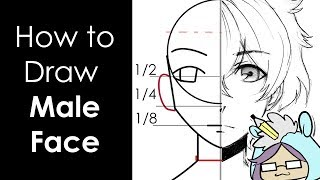How to Draw Male face | Anime Manga Tutorial