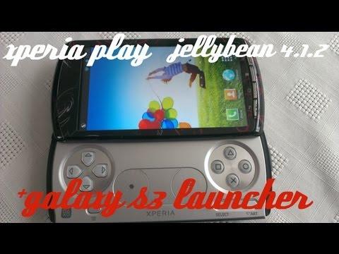 xperia play JELLYBEAN 4.1.2 +GS3 LAUNCHER