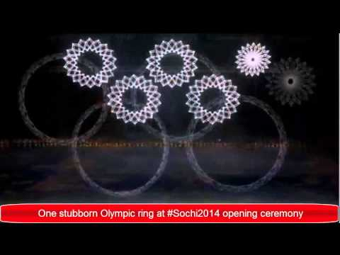 Olympic ring fail at Sochi 2014 opening ceremony