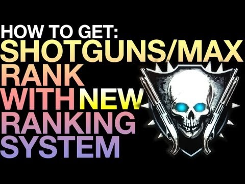 Black Ops 2 Zombies l How To Get Shotguns / Max Rank with NEW Ranking System!