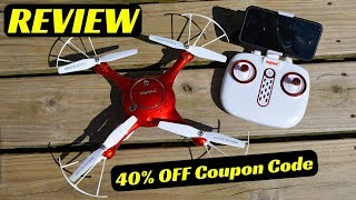 [REVIEW] Syma X5UW DRONE from DoDoeleph (flight test, camera test and how to operate)