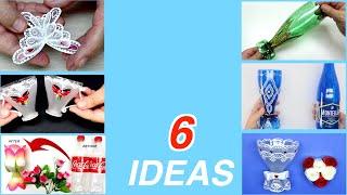 6 Wonderful Ideas from Plastic Bottles handcraft diy