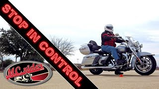 This tip will help you stop a motorcycle with more control