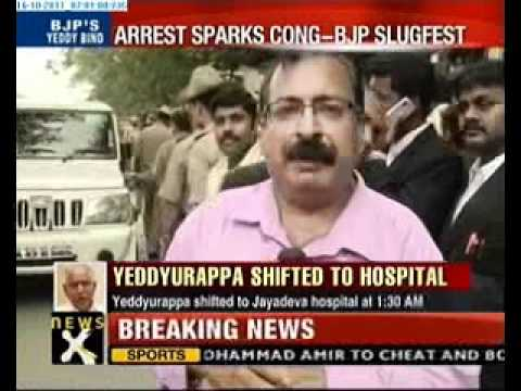 After arrest, BS Yeddyurappa hospitalized