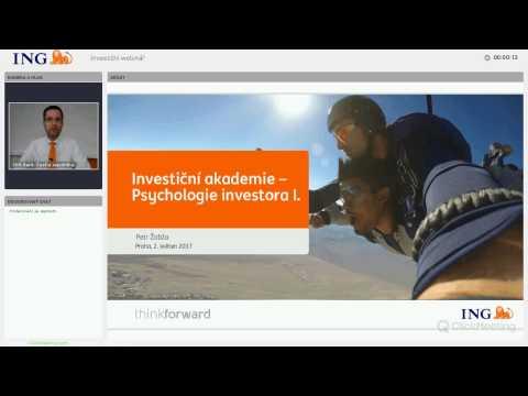 26. webinář: Investiční akademie - Psychologie investora I.