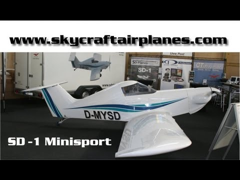 SD-1 Minisport experimental amateurbuilt aircraft. Skycraft Airplanes.