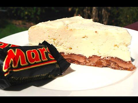NO BAKE MARS BAR CHEESE CAKE RECIPE