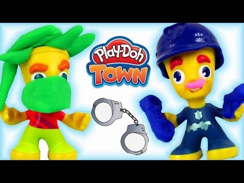 Play Doh Town • Policjant • Złodziej W Mieście!!! • Bajki I Kreatywne Zabawy