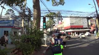 Down hill cycling Pattaya hilltop to Saisong road