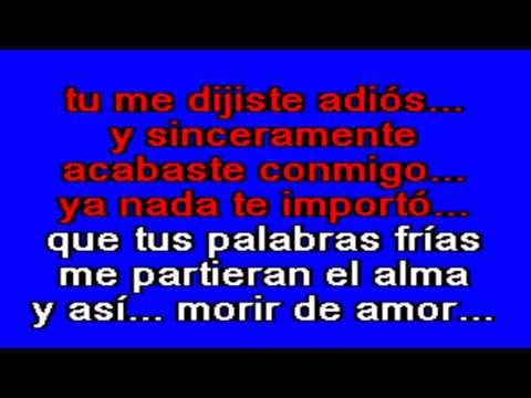 lyrics muero de amor por: