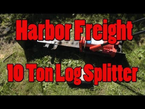 Harbor Freight 10 Ton Log Splitter Review and Demo