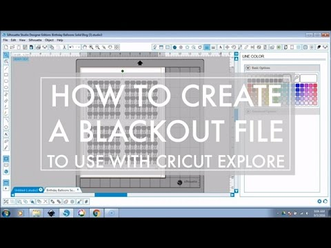 How to Create a Blackout File in Silhouette Studio to Cut PDF Printables with Cricut Explore