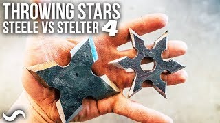 MAKING THROWING STARS!!! Steele Vs. Stelter ep:4
