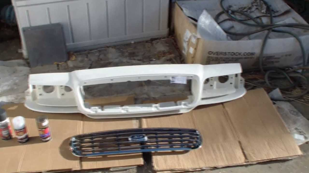 Crown Victoria Front Grill And Body Repair Tutorial Youtube