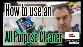 How To Use An All Purpose Cleaner / Carguysupplies.com / AMDetails Products