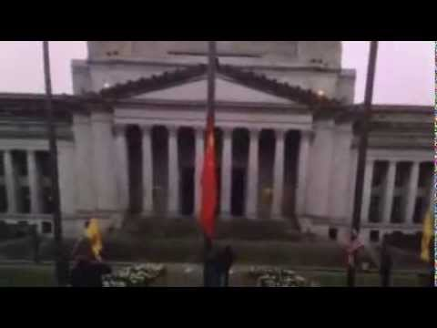 "Washington State governor Jay Inslee orders the ""Chinese Flag to fly over the State Capitol"