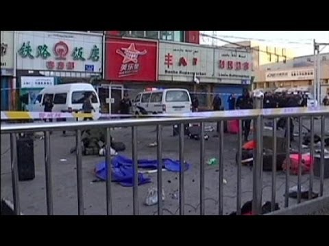 Bomb and knife attack kills three in western China