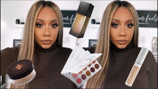 HOLIDAY MAKEUP TUTORIAL using FAVORITE DRUG STORE AND HIGH END PRODUCTS | Faceovermatter