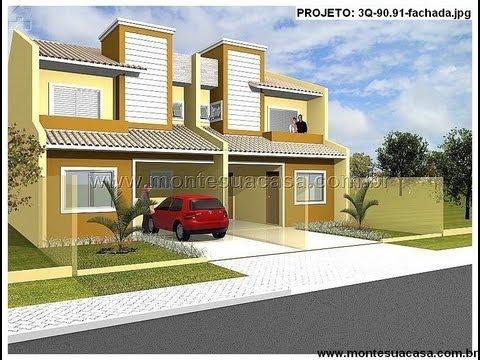 Fachadas de sobrados de 3 quartos - montesuacasa.com.br