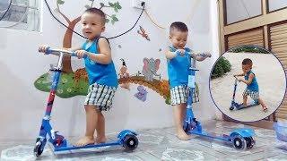 Tuấn Minh Khám Phá Chiếc Xe Trượt _  Xe trượt Scooter cho bé