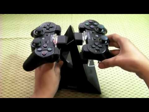 KONNET PowerPyramid Playstation 3 (PS3) or Xbox 360, Elite, Slim Controller Charger Stand