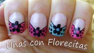 Uñas con Florecitas - Nails with flowers