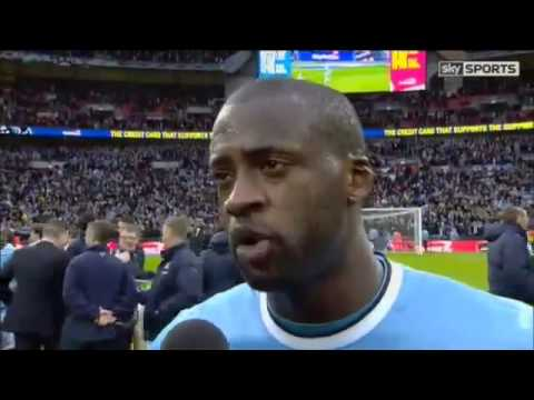 Manchester City Vs Sunderland 3 1   Yaya Toure Samir Nasri After Their Goals   March 2 2014