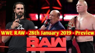 WWE Monday Night Raw 28th January 2019 Highlights : Preview